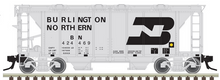 Preorder for Atlas O BN ACF 34' AC-2 Covered Hopper car, 3 rail or 2 rail
