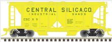Preorder for Atlas O Central Silica ACF 34' AC-2 Covered Hopper car, 3 rail or 2 rail