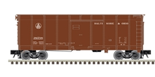 Atlas O B&O (brown, small letters)  40' wagon top box  car