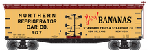Pre-order for Atlas O Yes! Bananas 40' wood reefer, 3 rail or 2 rail