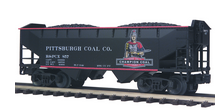 MTH Premier Pittsburgh/Champion Coal 2-Bay Offset Hopper w/Coal Load, 3 rail