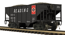 MTH Premier Reading 2-Bay Fishbelly Hopper w/Coal Load, 3 rail