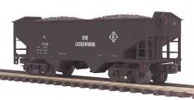 MTH Premier Erie Lackawanna 2-Bay Offset Hopper w/Coal Load, 3 rail