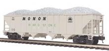 MTH Premier Monon 4-Bay Hopper w/ Coal Load, 3 rail
