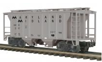 MTH Premier Maryland Midland PS-2 34' Covered Hopper, 3 rail