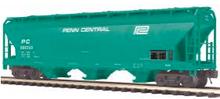 MTH Premier Penn Central 3-Bay Centerflow Covered Hopper, 3 rail