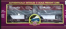 MTH Premier New York Central Flat Car with (2) 20' Trailers, 3 rail