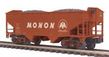 MTH Premier Monon 2-Bay Offset Hopper w/Coal Load, 3 rail LN