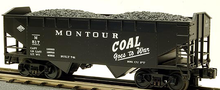 MTH Premier Montour Coal Goes to War 2-Bay Offset Hopper w/Coal Load, 3 rail LN