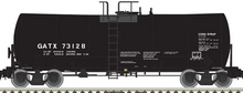 Pre-Order Atlas O GATX (plain jane black) 17,600 gal tank car