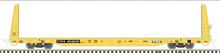 Pre-order for Atlas O TTX (with yellow stripes)   62' Bulkhead Flat car, 3 rail or 2 rail