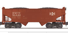 MTH Premier B&LE  2-Bay Offset Hopper w/Coal Load, 3 rail