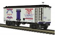 MTH Premier Wacker Beer 36' wood reefer, 3 rail
