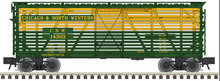 Pre-order for Atlas O C&NW 40' stock car, 3 rail or 2 rail