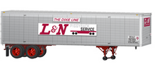 Lionel 1960's style L&N 40' trailer,  2 pack