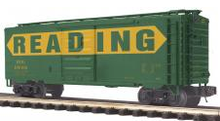 MTH Premier Reading 40' box car, 3 rail