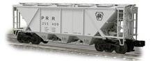 Weaver PRR H30 covered hopper (gray, plain keystone), 2 rail or 3 rail