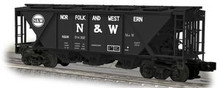 Weaver N&W H30 covered hopper car (black), 2 rail or 3 rail
