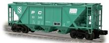Weaver Penn Central H30 covered hopper car (green), 2 rail or 3 rail