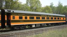 Golden Gate Depot GN aluminum smooth side coach  3 rail or 2 rail
