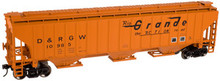 Atlas O Rio Grande PS4750  cov hopper, 3 rail or 2 rail