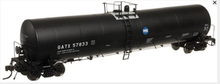 Atlas O GATX (black) 25,500 gal tank car, 3 rail or 2 rail