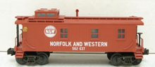 MTH Railking N&W woodside caboose,  3 rail