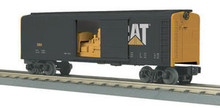 MTH Rail King Caterpillar Rounded Roof Box Car w/Generator, 3 rail LN