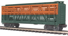 MTH Premier Great Northern Steel Sided Stock Car, 3 rail LN