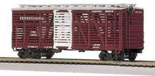MTH Premier PRR Steel Sided Stock Car, 3 rail LN