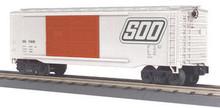 MTH Rail King SOO Line 40' Double Door Box car, 3 rail LN