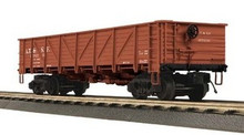 MTH Santa Fe 50 Ton Composite Drop Bottom Gondola Car, 3 rail