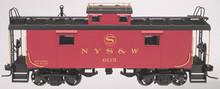 Atlas O NYS&W NE-6 caboose (yellow lettering), 2 rail