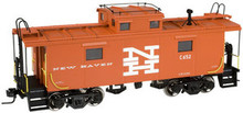 Atlas O New Haven (orange) NE-6 caboose, 2 rail or 3 rail