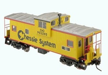 Atlas O Chessie System Extended Vision caboose, 3 rail