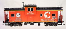 """Atlas O Chessie System """"Careful Handling"""" Extended Vision caboose, 3 rail"""