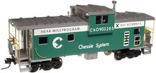 Atlas O Chessie Safety (green) Extended Vision caboose, 2 rail