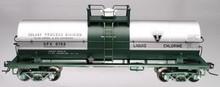 Atlas O Solvay 11,000 gallon tank car, 3 rail or 2 rail