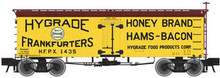 Atlas O Hygrade Frankfurters  36' wood reefer, 3 rail or 2 rail