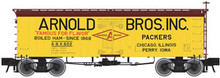 Atlas O Arnold Bros  36' wood reefer, 3 rail or 2 rail