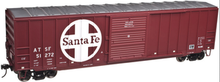 Atlas O Santa Fe  50' modern box car, 3 or 2 rail