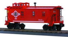MTH Rail King Texas & Pacific woodsided Caboose , 3 rail
