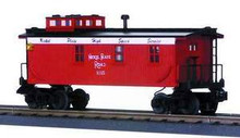 MTH Rail King Nickel Plate Road Woodsided Caboose , 3 rail