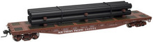 Atlas O PDT Exclusive SP  50' flat car with pipe load, 3 rail or 2 rail