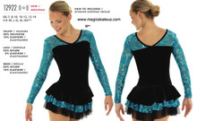 Mondor Skating Dress Style 12922 - Peacock