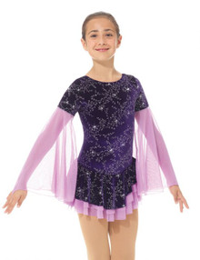 Mondor Skating Dress Style 2766, Frosted Flower
