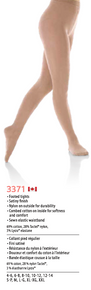 MONDOR STYLE: 3371 Footed Natural tights