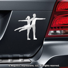 FIGURE SKATER CAR MAGNET, PAIRS