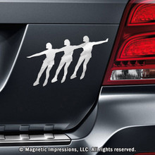 SYNCHRONIZED SKATERS CAR MAGNET