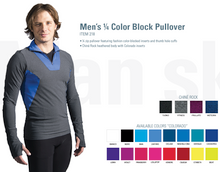 Men's 1/4 Color Block Pullover Item 218